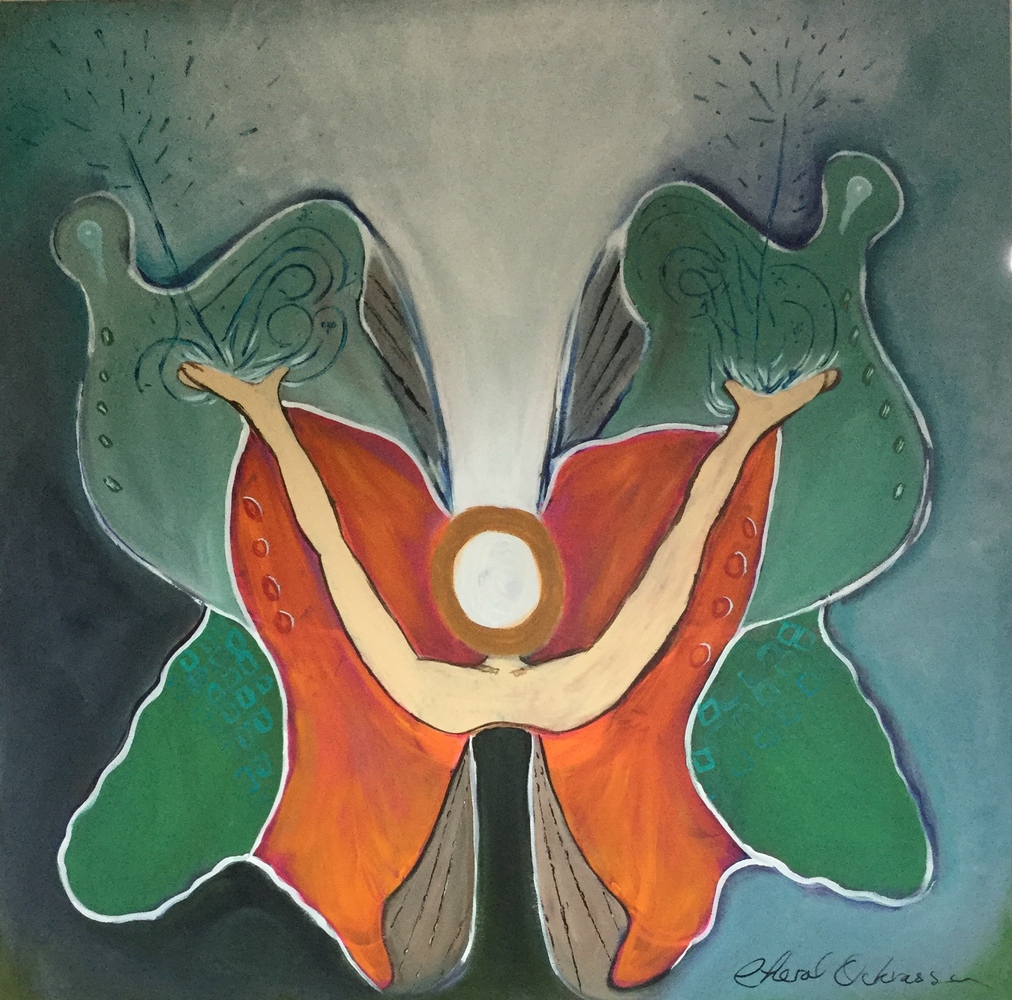 """Still and Emerging, 36""""x36"""", $400.00"""