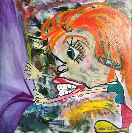 """This Is Fallopiana This Is Fallopiana $425.00 Height 36"""", Width 36"""", Depth 1.5"""" Acrylic on gallery wrapped canvas"""