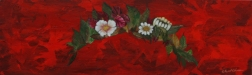 "Her Flowers, 12""x36"", $175.00"