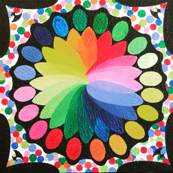 """Quilted Color, 36""""x36"""", $750.00"""