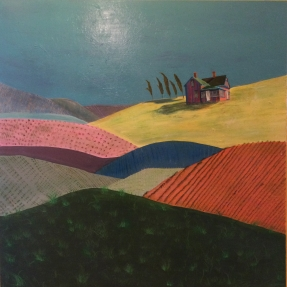 """On The Bright Side Of The Hill, 48""""x48"""",$1,000.00"""