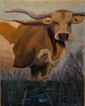 """Love A Bull, 30""""x24"""", $400.00"""